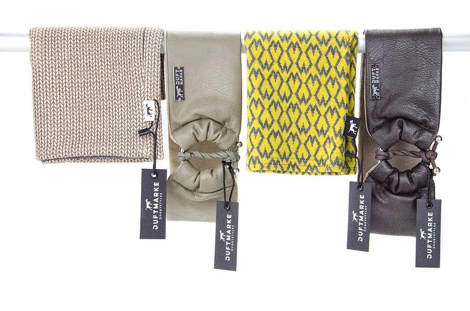 Duftmarke Loops Taschen Schals Halsbänder Tücher Accessoires Futterbeutel