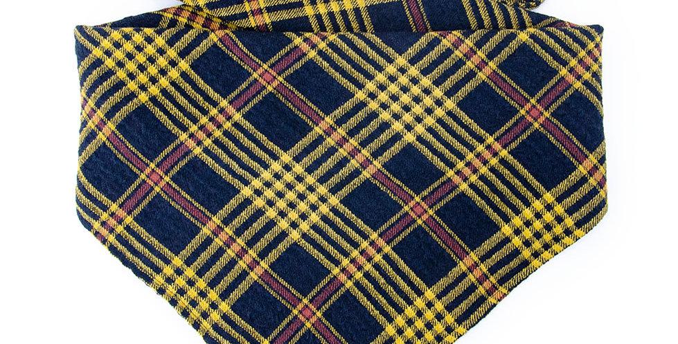 Bandana Halstuch von Duftmarke für Hunde mit Karo Muster und weichem Stoff in gelb