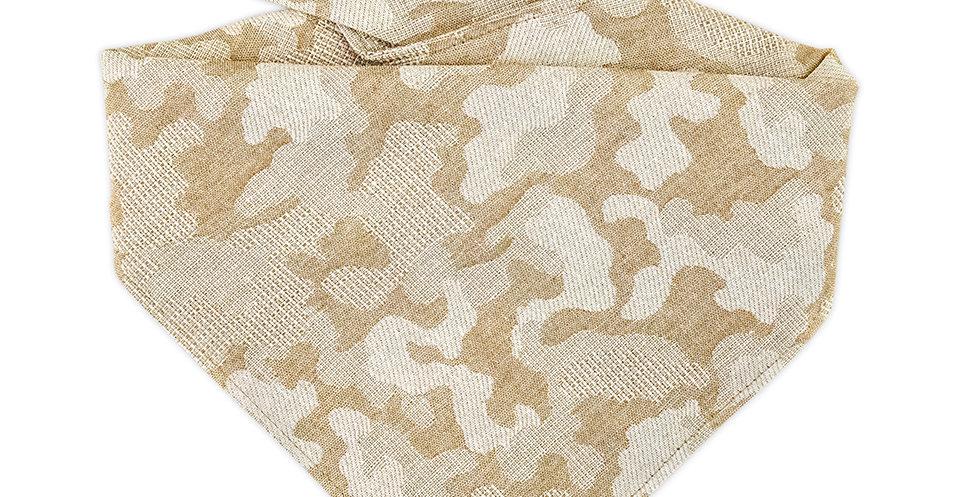 Halstuch, Bandana für Hunde von Duftmarke in beige Camouflage