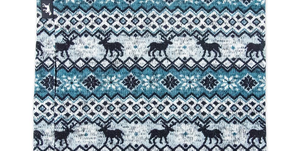 Loopschal für Hunde von Duftmarke aus Wolle mit Norweger Muster petrol