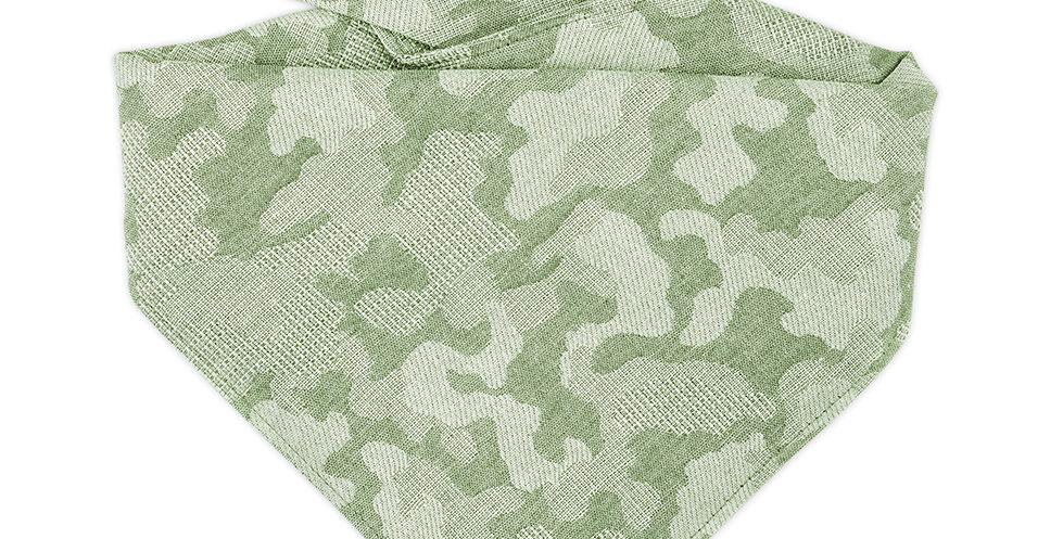 Halstuch, Bandana für Hunde von Duftmarke in grün Camouflage