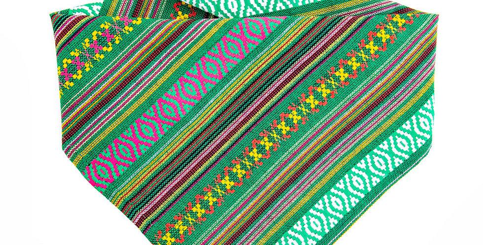 Halstuch, Bandana für Hunde von Duftmarke im Mexico Boho Design mit der Farbe Grün
