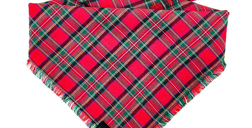 Halstuch Bandana für Hunde von Duftmarke aus Flanellstoff mit Karomuster in rot