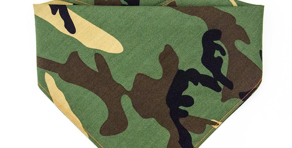 Hasltuch, Bandana von Duftmarke für Hunde in Camouflage Grün