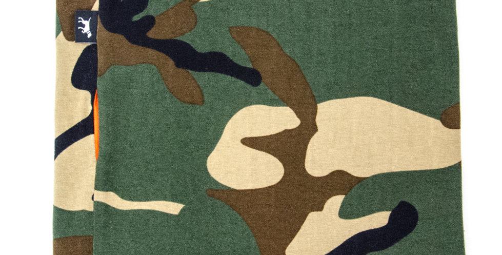 Loopschal für Hunde von Duftmarke mit Camouflage Look Grün Orange