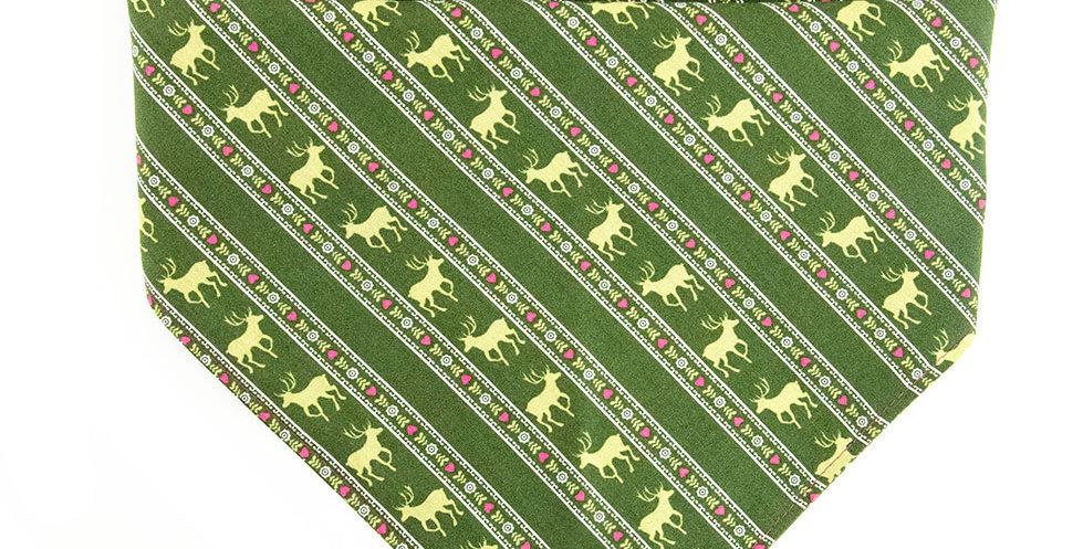 Halstuch, Bandana von Duftmarke für Hunde mit Jagd Muster in grün
