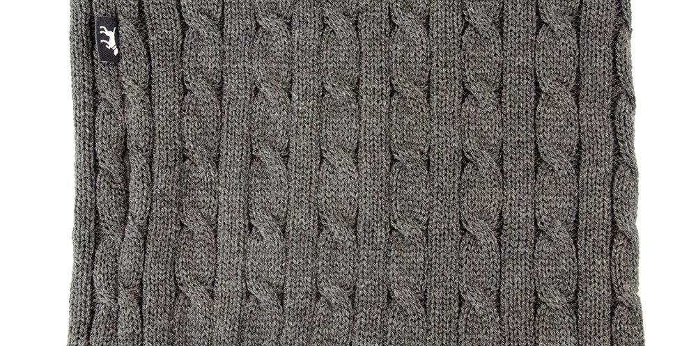 Loopschal für Hunde von Duftmarke mit Wolle und Zopfmuster warm für den Winter