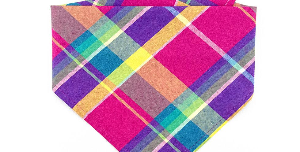 Halstuch, Bandana von Duftmarke für Hunde mit Karro Muster Pink