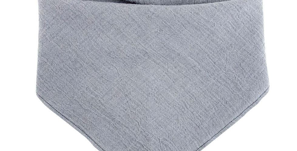 Halstuch, Bandana von Duftmarke für Hunde aus Leinen in grau