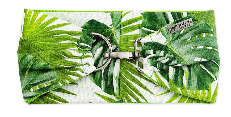 Halsband für Hunde von Duftmarke mit Pflanzen in grün