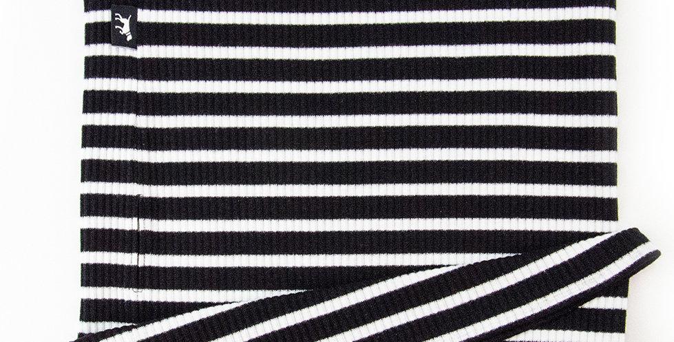 Loopschal für Hunde von Duftmarke mit schwarz weißen Streifen