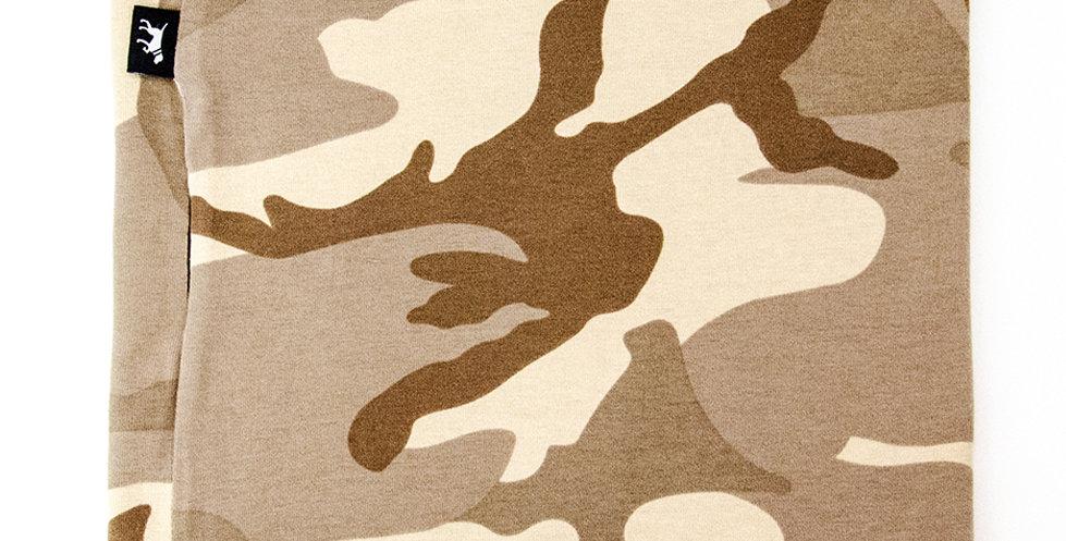 Loopschal für Hunde von Duftmarke mit Camouflage Look Sandfarben Tarnung