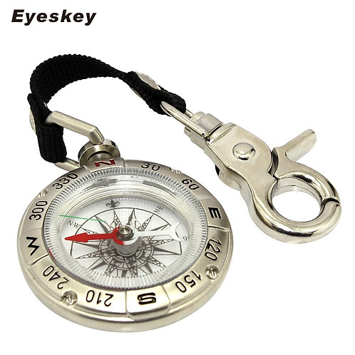 Eyeskey Backpack Outdoor Hiking Compass Handheld Key Chain Survival Compass