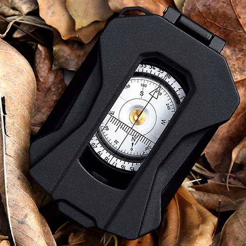 Waterproof Multifunctional Aluminum Alloy Compass Survival Compass MilitaryGrade