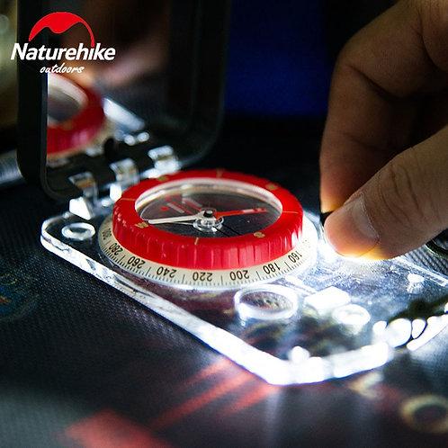 NatureHike Luminous Compass With Mirror LED Light Multifunctional Compass