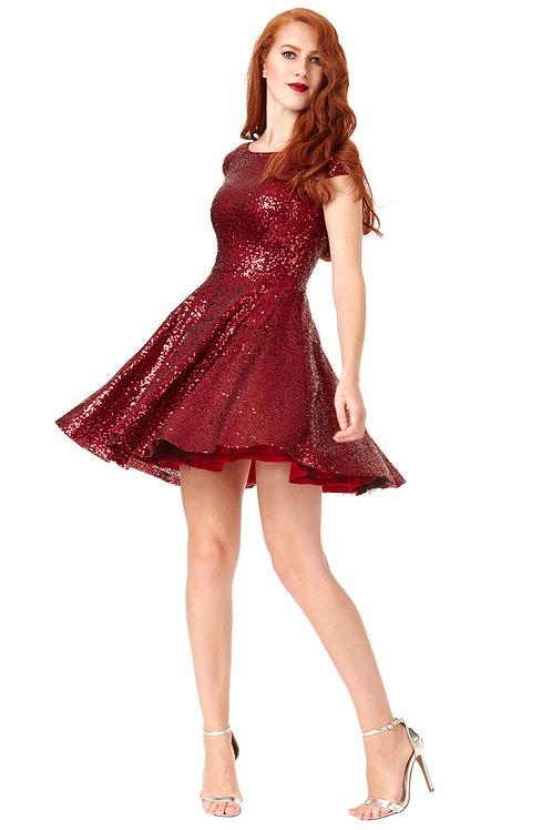 Short Skater Sequin Dress