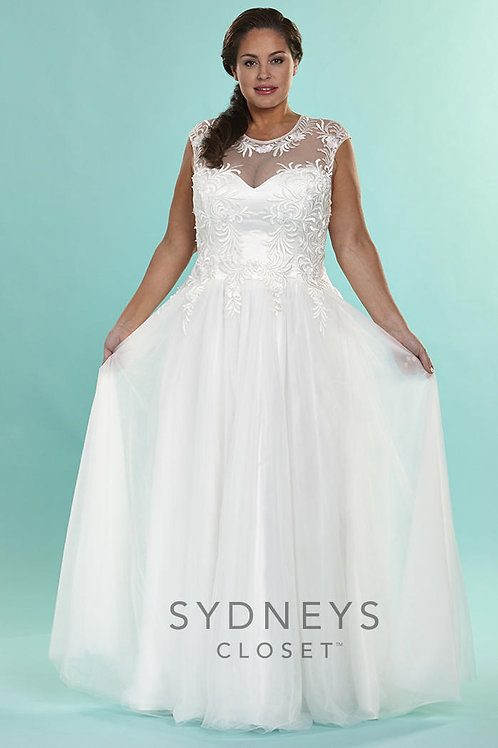 Sydney's Closet Sweetheart with Scoop Neckline Bridal Gown