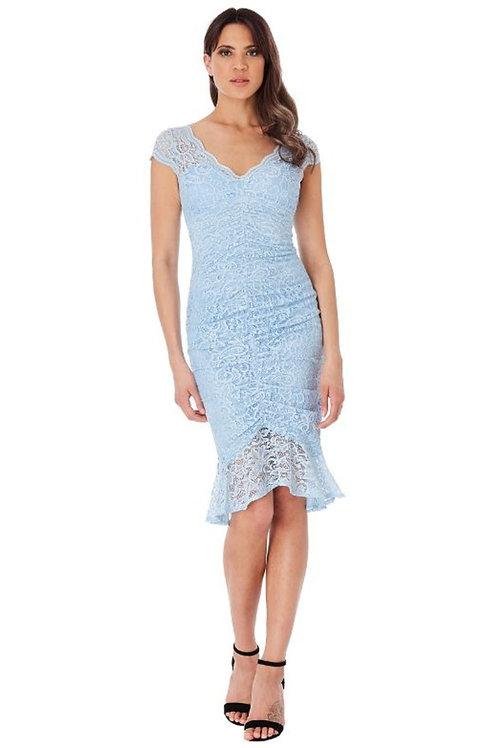 V Neck Lace Occasion Dress