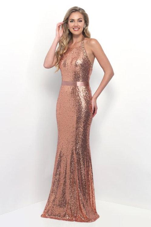 Halter Neckline Sequin Dress