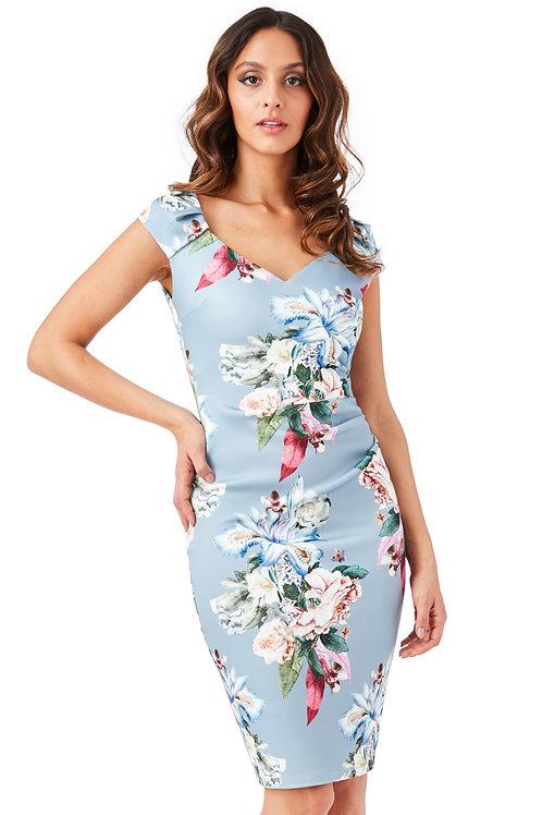 Sweetheart Neckline Floral Dress
