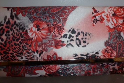 Floral Print Clutch Bag