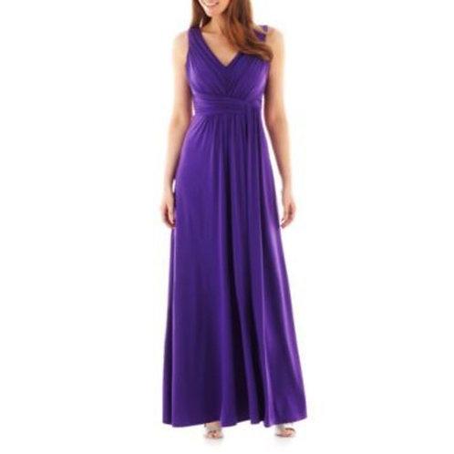 V Neck Criss-cross Bridesmaid Dress