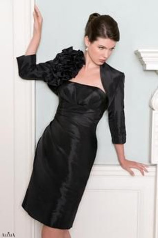 Black Taffeta Dress and Jacket