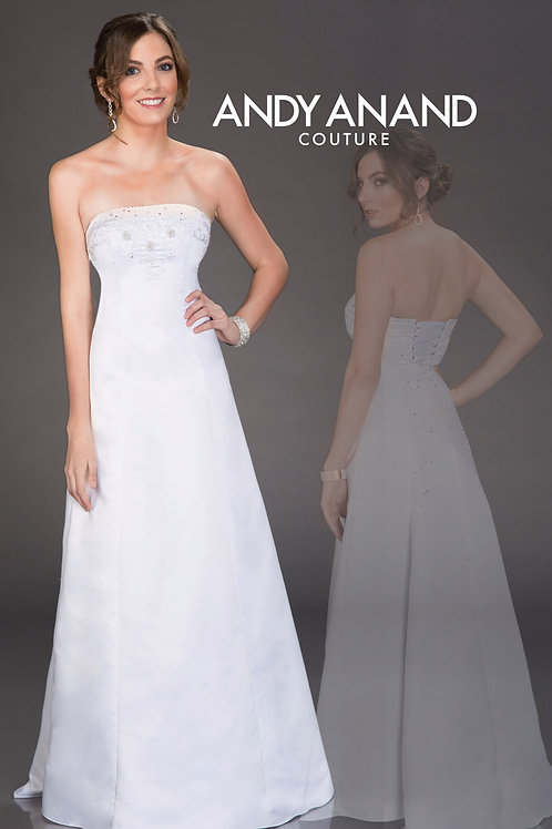 A-Line Strapless Wedding Dress with Beaded Bodice