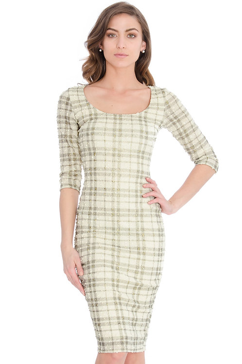 Checked Boucle Dress