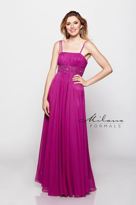Chiffon Dress with a Beaded Sequined Waist