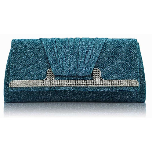Emerald Teal Clutch Bag