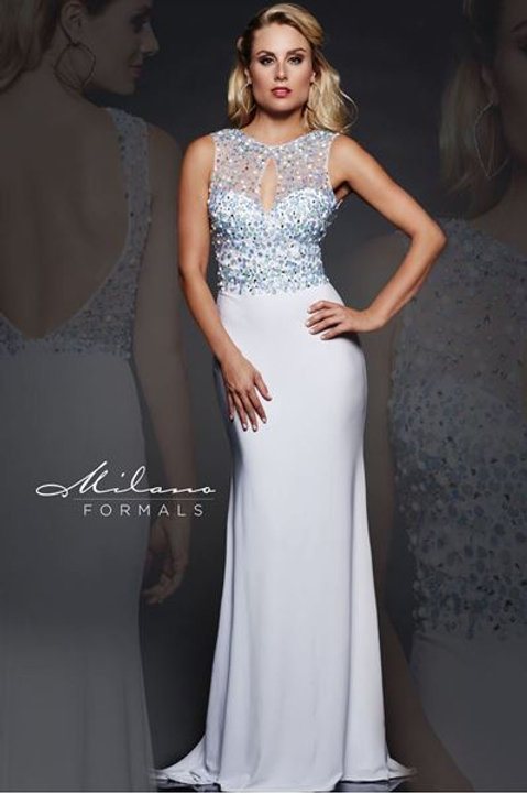 Prom Dress with Sequined Bodice