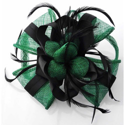 Black and Green Comb Fascinator
