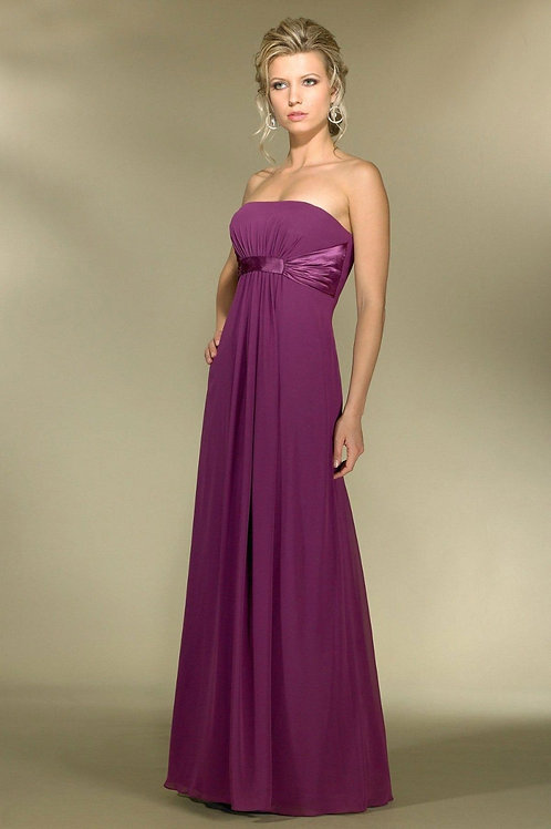 Chiffon Strapless Bridesmaid Dress