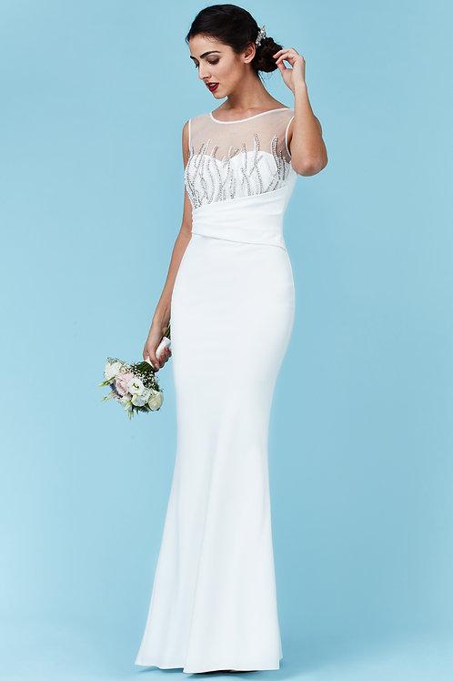 Beaded Top Wedding or Prom Dress