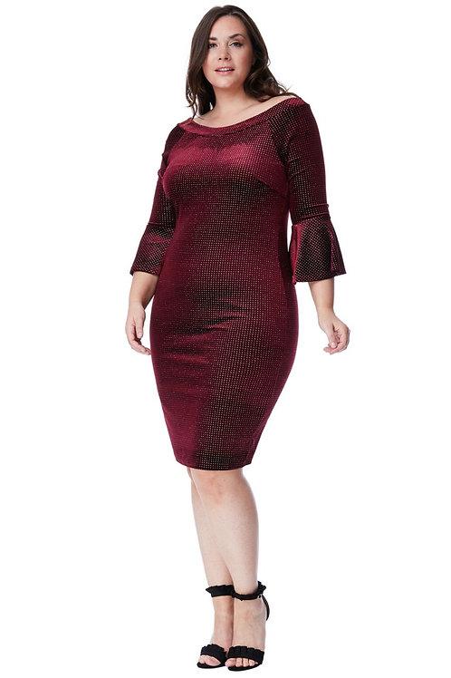 Velvet Glitter Occasion Dress
