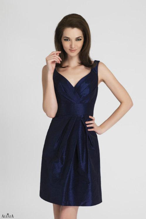 Short Poly Shantung Cocktail Dress
