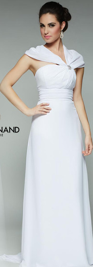 Ivory Chiffon Dress by Andy Anand