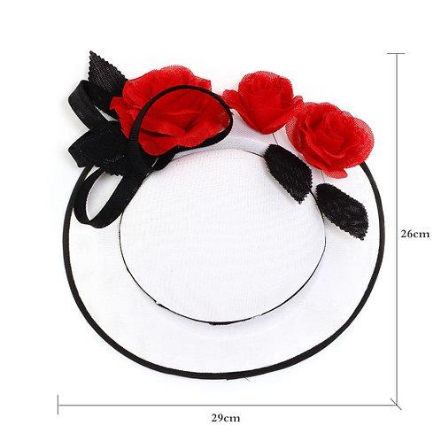 Red Flower Hat Fascinator