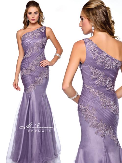 One Shoulder Fishtail Evening Dress