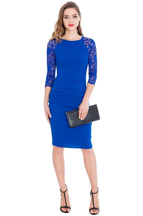 Raglan Lace Sleeved Dress