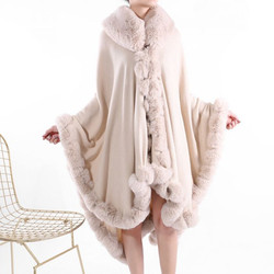 Cosy Fur Trimmed Poncho