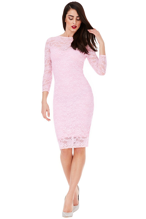 Lace Dress with Keyhole Back detail