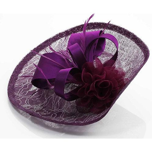 Purple Hat Fascinator