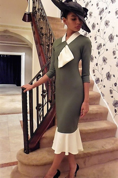 Knot Front Fishtail Dress