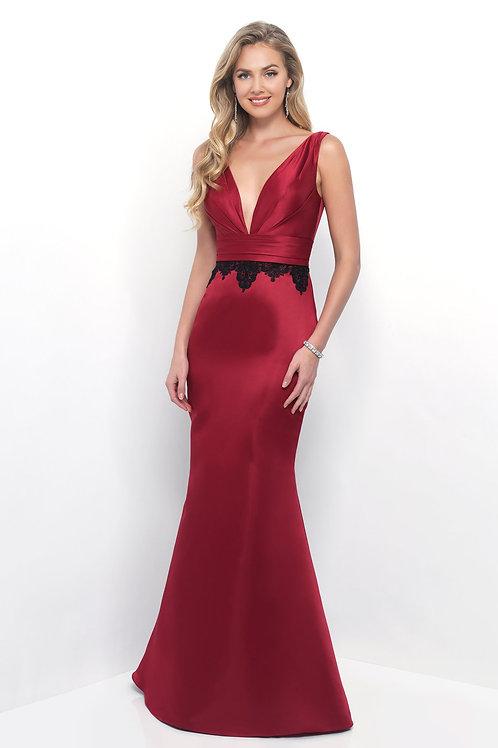Mermaid Silhouette Satin Gown