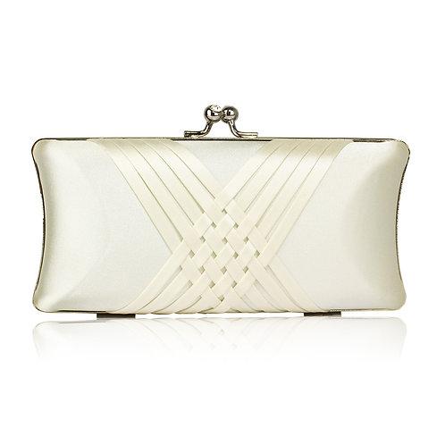 Ivory Satin Clutch Bag