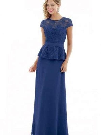 Chiffon and Lace Bridesmaid Dress with Peplum Top