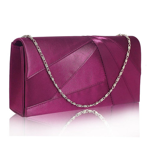 Satin Evening Clutch Bag