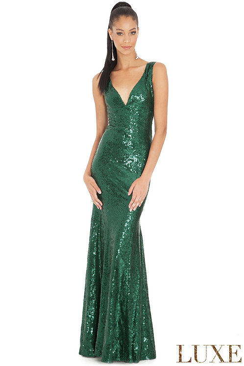 Sequined Bridesmaid's Dress